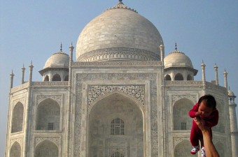 Taj Mahal with Baby