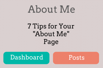 tips for your about me page